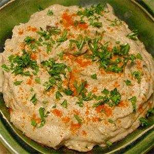 Baba ganoush, una rica crema de berenjenas
