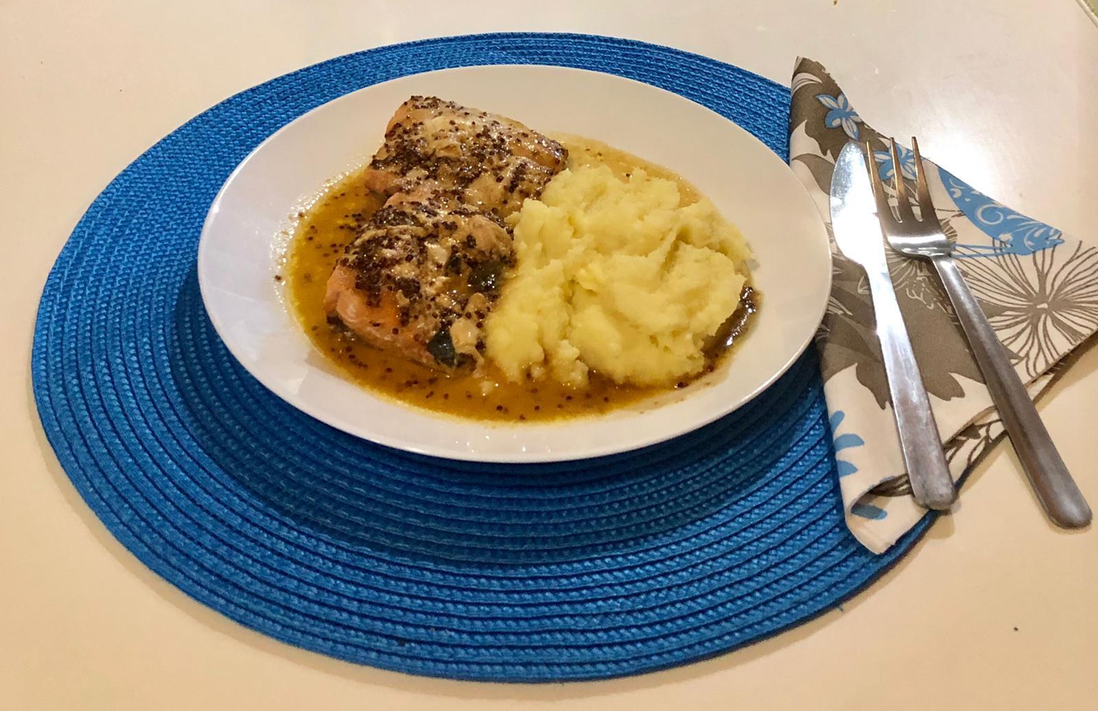 Salmón en salsa de soja y sirope de arce