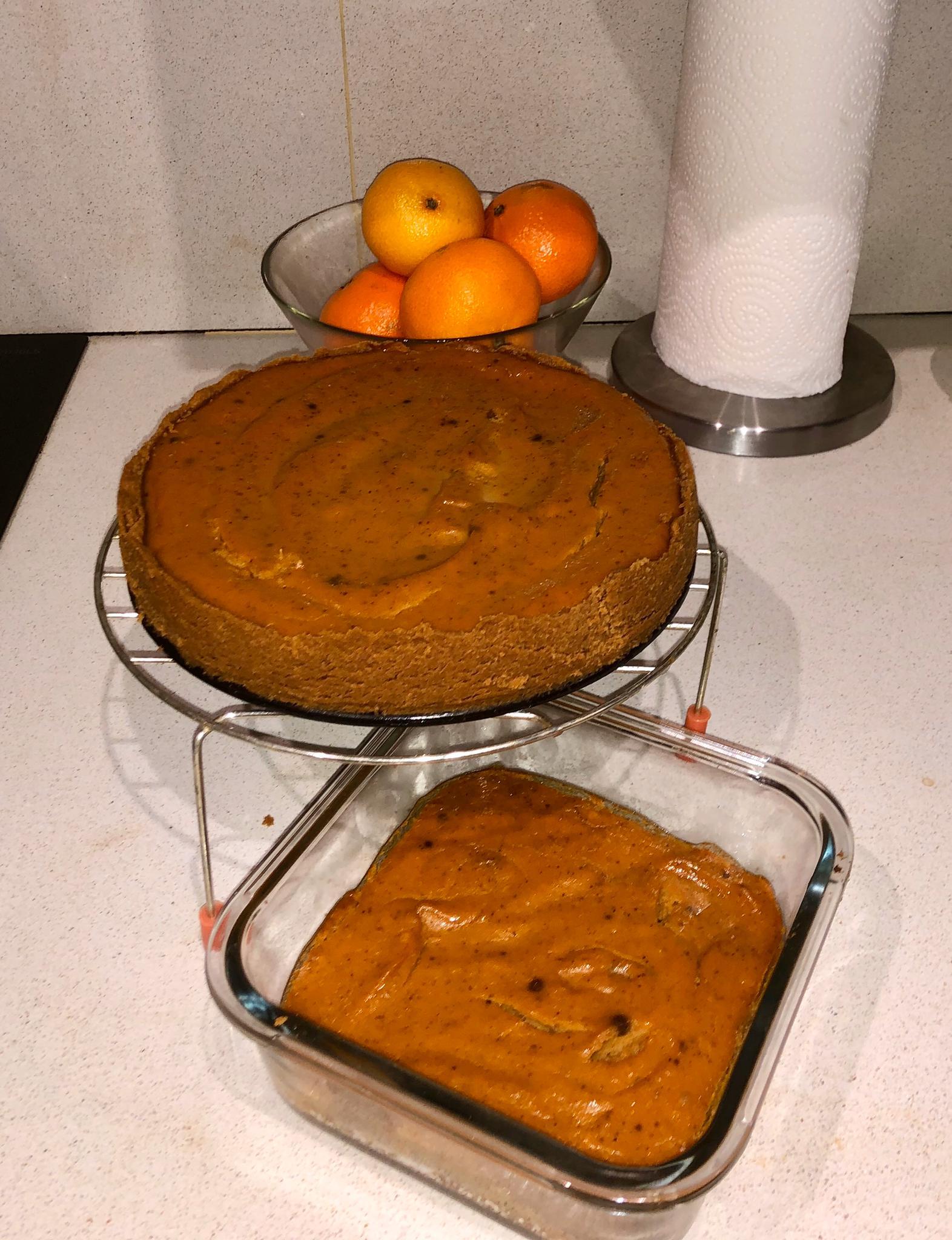 Delicioso pie de calabaza (pastel de calabaza)