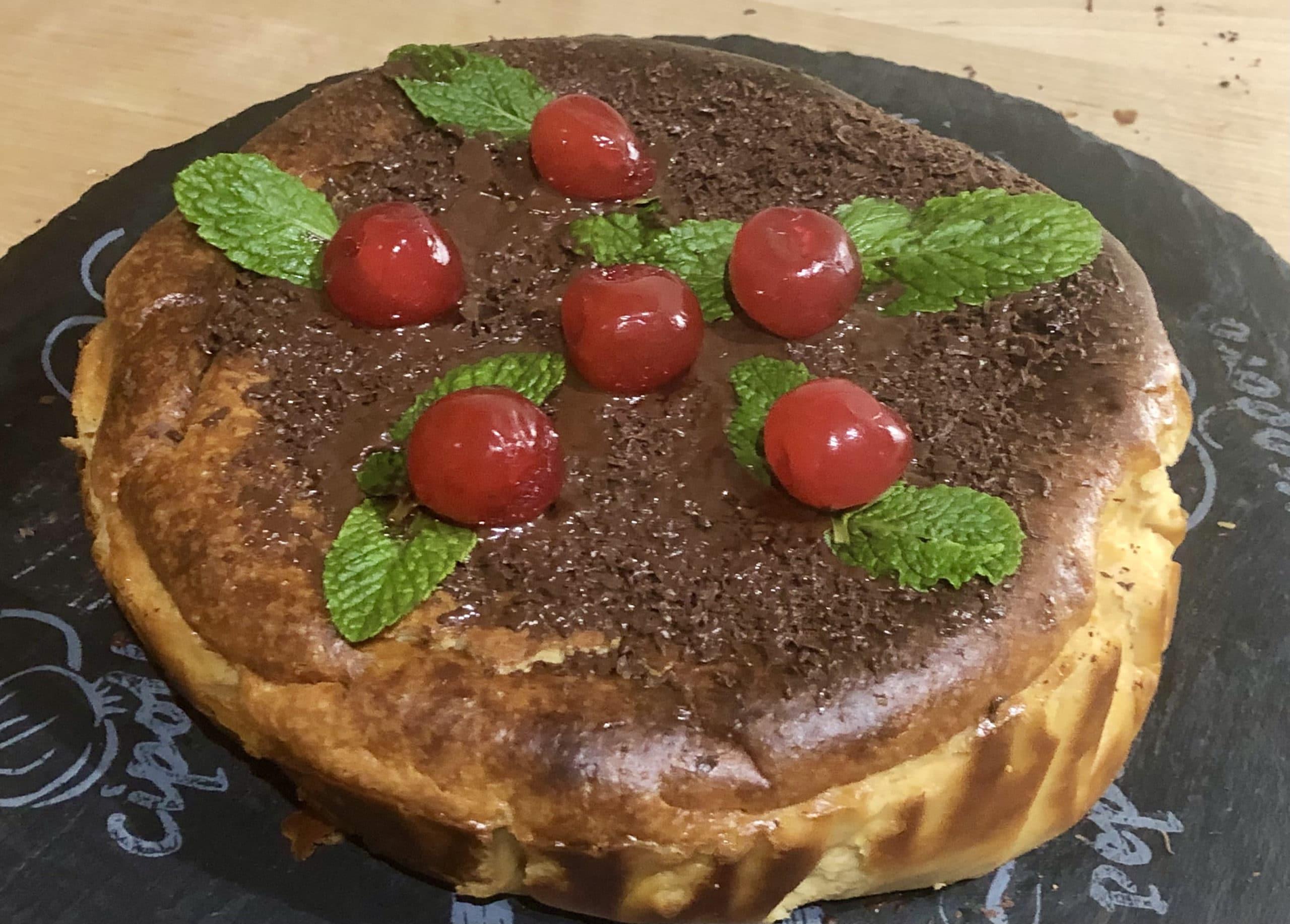 Delicioso cheesecake de turrón